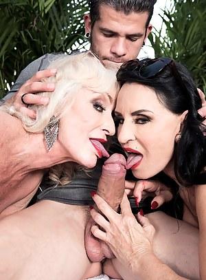 Mature Double Blowjob Porn Pictures